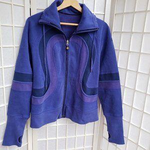 Lululemon Purple Fleece Zip Up Jacket (T4)